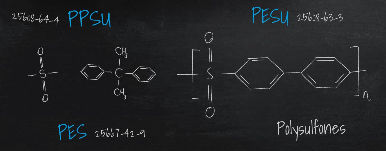 Polysulfones – PSU, PESU, PPSU